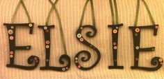 Curly Button Hanging Letters