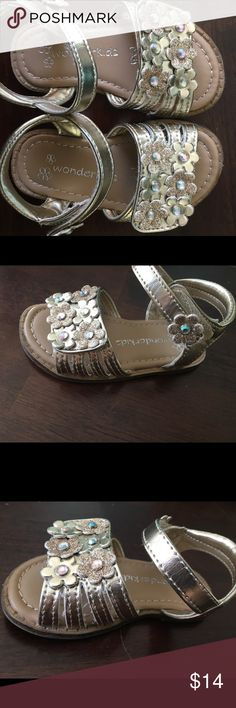 Very cute gold sandals....gently used Size 5 gold shoes.  Very gently used. wonderkids Shoes Sandals & Flip Flops