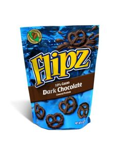 Flipz Dark Chocolate Pretzel, 4-Ounce (Pack of « Blast Grocery