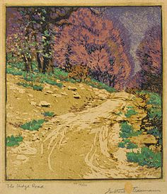 I love the woodblock prints of Gustave Baumann, especially those of Brown County & other Hoosier landscapes.