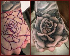 Rose tattoo #tim hendricks                                                                                                                                                                                 More
