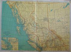 Uncommon BRITISH COLUMBIA Map of British Columbia by plaindealing