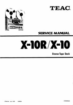 Teac A-1030 & A-1300 reel tape recorder Service Manual in