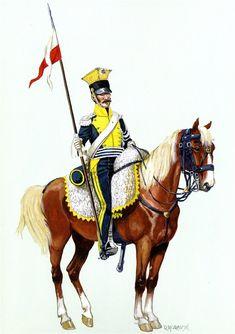 Vistula Legion Uhlan forme.1812 in the service.