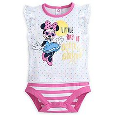 Minnie Mouse Disney Cuddly Bodysuit for Baby | Disney StoreMinnie Mouse Disney Cuddly Bodysuit for Baby - Your little ray of sunshine will glow while wearing our stylish bodysuit featuring Minnie Mouse sporting her shades, plus a striped bottom for that two-piece look.