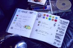 dot on #diary: For the loud thoughts and the silent undertones  #klebepunkte #Illustrationen #Tagebuch #diy #doton #diary
