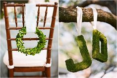Adorable chair decoration ideas! - weddingfor1000.com wreath and greenery…