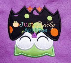 Bat Owl Applique Design