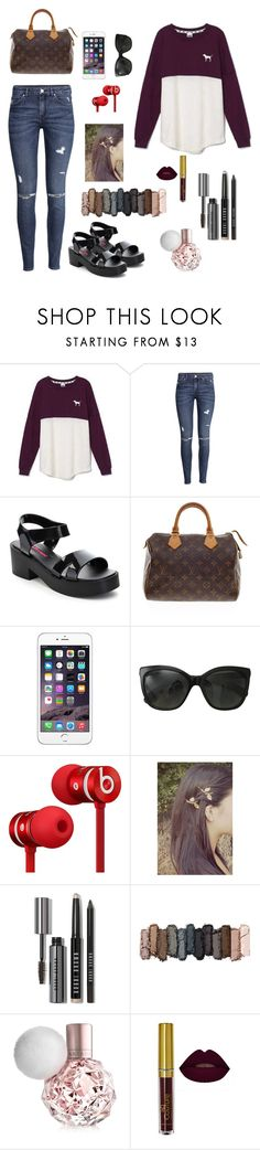 Test day by gabriellaallen on Polyvore featuring Victoria's Secret, H&M, C Label, Louis Vuitton, Chanel, Bobbi Brown Cosmetics, Urban Decay and Beats by Dr. Dre