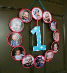 First Birthday Party We made a one filled it in wall the
