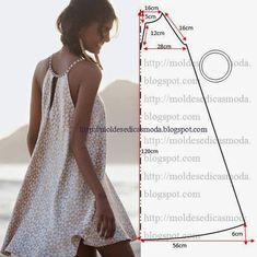 simple summer dress pattern 18 - moldes moda por medida:
