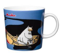 Håll Sverige Rent Moomin mug - blue from Arabia by Tove Jansson, Lars Jansson