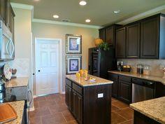 Kitchen Ideas Espresso Cabinets new venetian gold granite kitchen with dark cabinets and dark