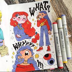 Ree Artwork (rvsalochka) — re-posted! there was this mistake that was. Kunstjournal Inspiration, Sketchbook Inspiration, Cute Art Styles, Cartoon Art Styles, Posca Art, Arte Sketchbook, Sketchbook Pages, Sketchbook Ideas, Marker Art