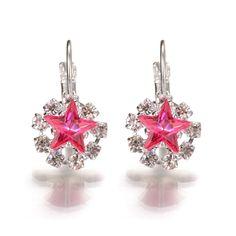 star zircon earrings