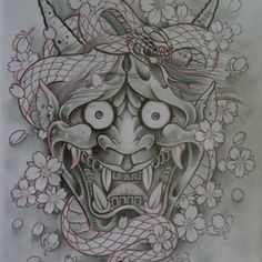 My next tattoo, a Hannya mask. It is a traditional Japanese mask used to represent a vengeful and jealous woman. I want half of it to be a beautiful Japanese woman and the other half of the face be this mask...