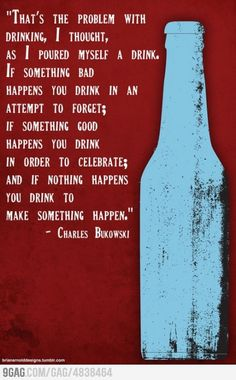 Drinking Quote ~ Charles Bukowski