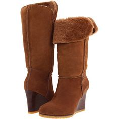 Here is the Aprelle from Ugg, the wedge-heeled shearling boot that will keep you looking good and feeling warm until spring
