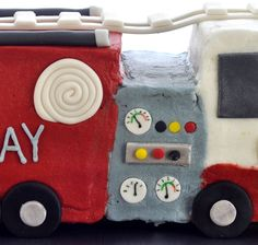 Beki Cook's Cake Blog: How to Make a Firetruck Cake good details and template