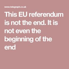 Weirdly – given that I am a man – I keep thinking about this referendum campaign as a pregnancy. Eu Referendum, Begin, The End, Pregnancy, Campaign, Pregnancy Planning Resources, Conceiving