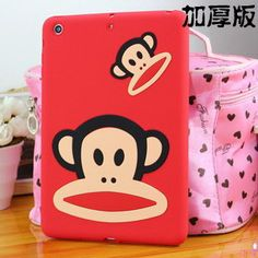 Silicone cover with cute picture of monkey for
