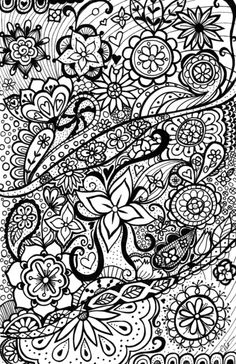 Zentangle floral art