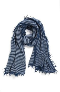 Stripe Cashmere Wrap for chilly nights.