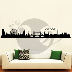 With this City Of London Wall Sticker Decal you can decorate your walls in one of the most modern and elegant ways