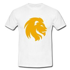Cool Lion Shadow Custom Design Mens Cotton T shirt Tee Shirts White Medium - Brought to you by Avarsha.com