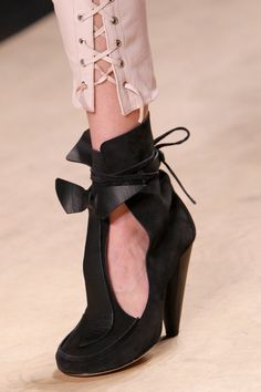 boots @ Isabel Marant Spring 2014 - these are beautiful.  not practical, but beautiful.