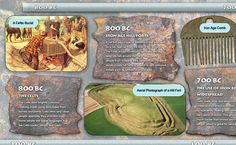This is an educational poster that shows events of the IronAge. The perfect addition to classroom lessons. Includes written information, photos and illustratio