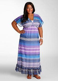 Ashley Stewart: Web Exclusive: Maxi Print Dress