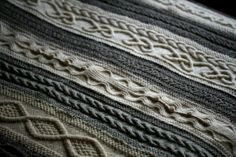 this beautiful blanket was knitted by 10 women and given as a gift. You can read the story here http://katedaviesdesigns.com/tag/cable-knitting/