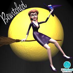Cartoon Witch Rigged 3D Model obj fbx 3ds max | 3DSquirrel