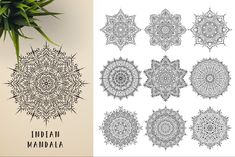 300 Vector Mandala Ornaments by pixaroma on Mandala Design, Mandala Art, Geometric Tattoo Sleeve Designs, Vector Pattern, Pattern Design, Sacred Geometry Symbols, Butterfly Template, Indian Mandala, Paper Ornaments