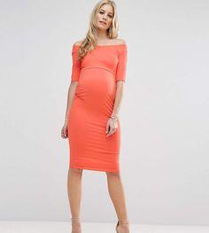 ASOS Maternity TALL Bardot Dress With Half Sleeve #ad