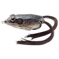 "Frog Hollow Body 2 5/8"", Number 2/0 Hook Size, Topwater Depth, Brown/Black…"