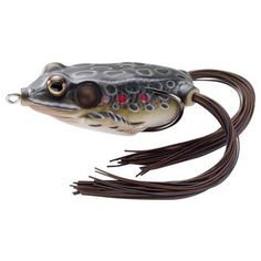 "Frog Hollow Body 2 5/8"", Number 2/0 Hook Size, Topwater Depth, Brown/Black…"