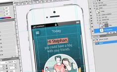 Wie eine App entsteht: App-Design im Zeitraffer (Video)  Wie genau eigentlich eine App entsteht, dazu gibt Peerigon derzeit ...