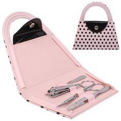 ซื้อ ขาย ดีลสุดพิเศษ ช่วงนี้เท่านั้น 4-in-1 Handbag Design Nail Clippers Scissors Nail File Manicure Set(Pink) - Intl คุณภาพดี ราคาถูก  พร้อมส่งทันที