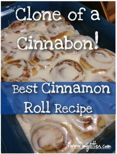 Homemade cinnamon roll recipe - I know they are so bad for you, but I really miss Cinnabons...and if I make my own and I like them, I am in deep, deep trouble...