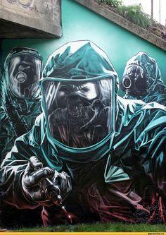 Уличный художник Smug One – один из известнейших британских авторов, работающих в жанре стрит-арта. / art (арт, арты) :: граффити :: стрит-арт :: картинки / смешные картинки и другие приколы: комиксы, гиф анимация, видео, лучший интеллектуальный юмор.