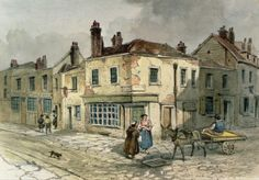 Old Pye Street, Westminster, 1849 (w/c on paper)
