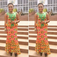 Ankara Skirt and Blouse Design - http://www.dezangozone.com/2015/10/ankara-skirt-and-blouse-design.html DeZango Fashion Zone