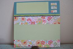 Chantilly Paper Packet scrapbook page layout
