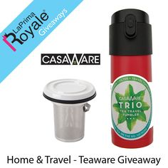 Win a casaWare Teaware, Home & Travel Set. A Red Tilt and Drip Tea Infuser and a Trio 12oz/350ML Tea Travel Mug, a $46 value #LaPrimaShops  The casaware Tilt and Drip Tea Infuser is the perfect item for the person who needs just a tea infuser for their favorite mug.   The casaware Trio 12oz/350ML Tea Travel Mug is the perfect item for the person who loves their loose leaf tea on the go.