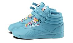 reebok freestyle, hi reignbow 30th anniversary edition, island blue