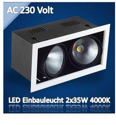 LED Einbaustrahler kardanisch 3x35W nw AC230V