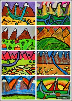PAINTED PAPER: Mountain Landscapes