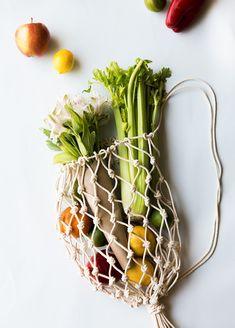 DIY: net produce bag  | Pinterest: Natalia Escaño